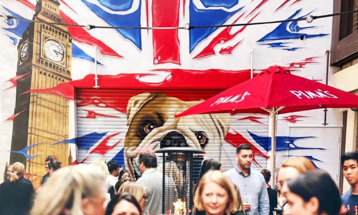 A Royal Tipple in a London-inspired Laneway